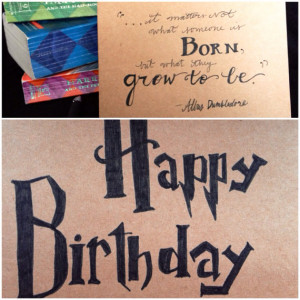 Harry Potter Birthday card, Dumbledore quote,
