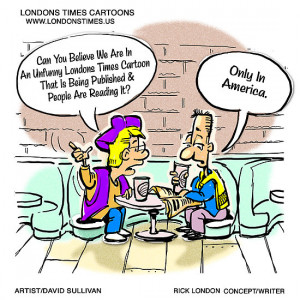 Not Very Funny...Only In America by Londons Times Cartoons by Rick ...