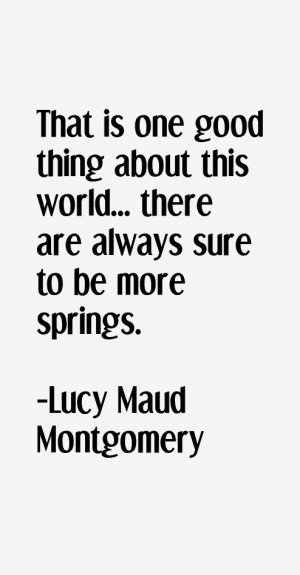 Lucy Maud Montgomery Quotes & Sayings