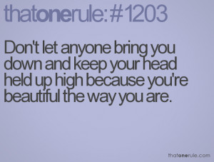 Don Let People Bring You Down