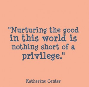Quote from Katherine Center from the Mom 2.0 Video.