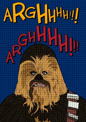 Star Wars quotes illustration by Aleix Risco .