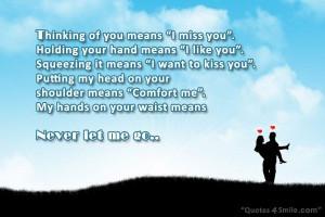 Never Let Me Go I Miss You