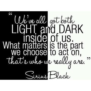 harry potter, sayings, quotes, famous, light, dark