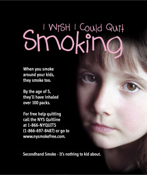 Second Hand Smoke Prevention Poster