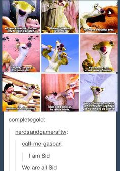 am Sid the sloth Ice age More
