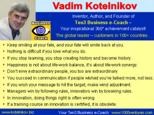 ... you stop creating history and become history. Vadim Kotelnikov Quotes