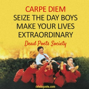 carpe diem poetry Nicholas baar - it's a vivid poetic collision in time on one hand the two lovers must seize the day but they do face a threat the threat of illusion i suppose if their happy what they see.