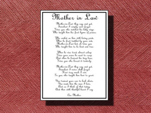 Love My Mother In Law Poems Wedding day mother-in-law poem