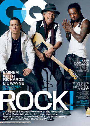 GQ Picks Eminem, Lil Wayne and Keith Richards for Their 'Gods Of ...