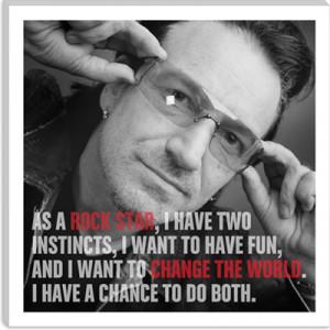 Bono Quote Canvas Art Print