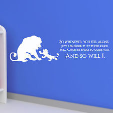 LION KING QUOTE, Disney, Children, Kids, Wall Sticker, Decal, Wallart ...