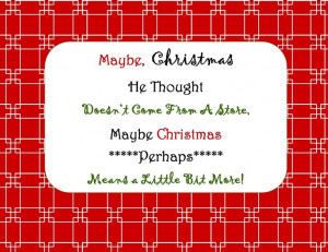 The Grinch Quote - FREE printable!
