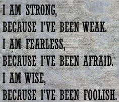 am strong because...