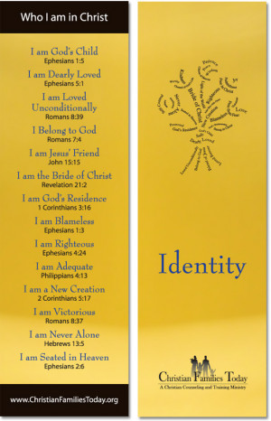 we are is crucial to victorious Christian living. Here is a bookmark ...