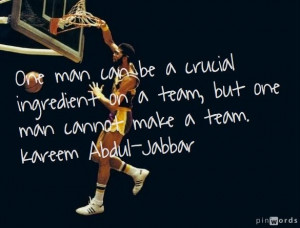 great quote from kareem abdul jabbar