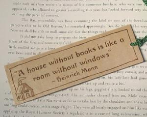 Wooden Bookmark - Hand Pyrography - Heinrich Mann Book Quote ...