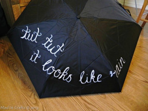 Hand Painted Umbrella Inspired by Winnie the Pooh