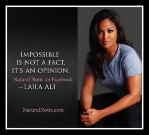Laila Ali Very Pretty. Boxer wow.