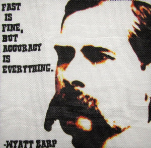 WYATT EARP QUOTE - Printed Patch - Sew On - Vest, Bag, Backpack ...