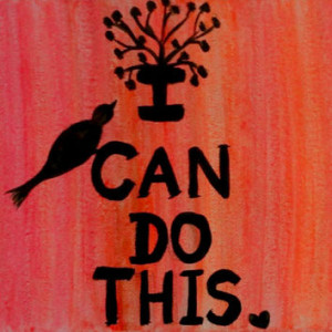 Inspirational canvas quotes Bird painting Acrylic canvas painting ...