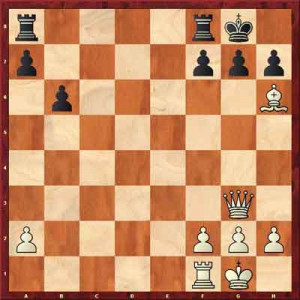 White proceeds with 1. Qxg7# , mating in one.