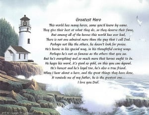 ... > Personalized Name Prints > Greatest Hero Personalized Poem For Dad