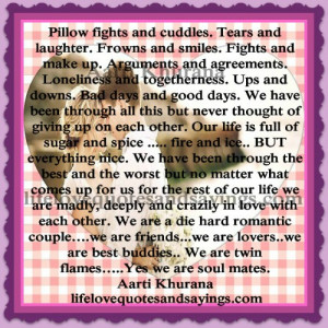 pillow fights and cuddles tears and laughter frowns and smiles fights ...