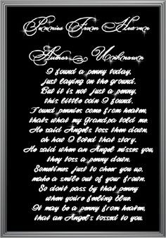 love this poem it makes me think of my Grandma Judy. More