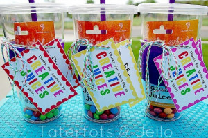 ... year . Attach to a smoothie gift car, reusable tumbler, or even a