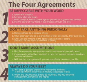 the fifth agreement Intrigued by the four agreements, i went on to the next book entitled the fifth  agreement, which aptly titled, includes one more agreement that.