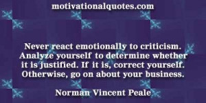 ... yourself. Otherwise, go on about your business. -Norman Vincent Peale
