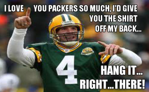 "Brett Favre: ""It is time to come back."" …Bob Harlan: ""It's ..."
