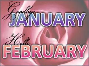 Goodbye January Hello February