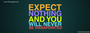 Expect Nothing FB Timeline Cover