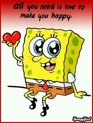 sponge bob love