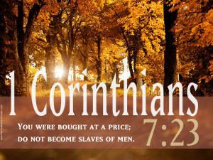 You were bought at a price;