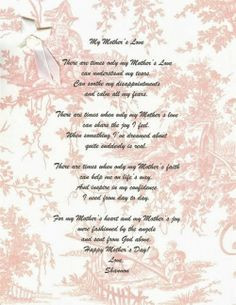 daughter poems from a mother kootation blogspo more poem kids mothers ...