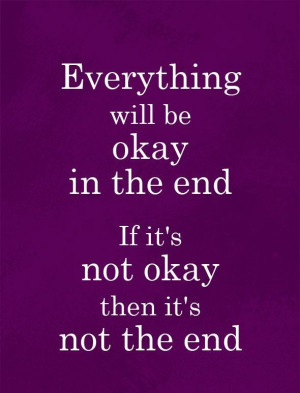 Quote Its not the end