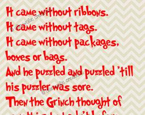 How The Grinch Stole Christmas Printable Quote, Digital Art, Wall Art ...