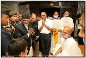 ... Prime Minister of Nepal Shri Sushil Koirala came to have darshan