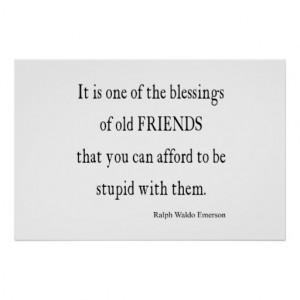 Vintage Emerson Friendship Blessing Quote Print