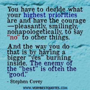 SAY NO quotes, stephen Covey Quotes