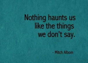 Things we don't say... #quote