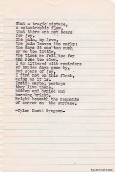 Typewriter Series #292 by Tyler Knott Gregson