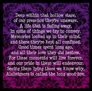, Alzheimer'S Poems, Alzheimer'S Dementia, Alzheimers Quotes, Quotes ...