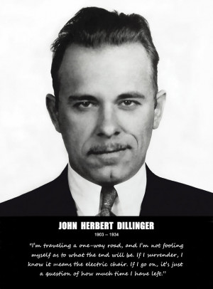 John Dillinger -- Public Enemy No. 1 Photograph