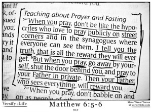 When you pray, don't be like the hypocrites who love to pray ...