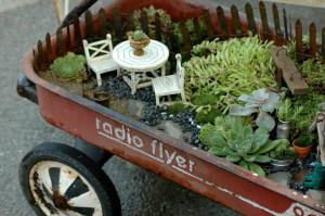 Radio Flyer' fairy garden.