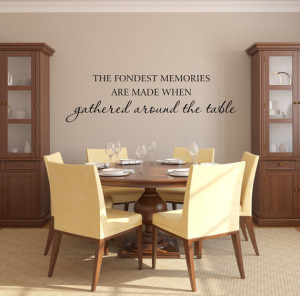 ... The Table Kitchen Wall Quote Saying Home Wall Decal 10Hx36W FS309